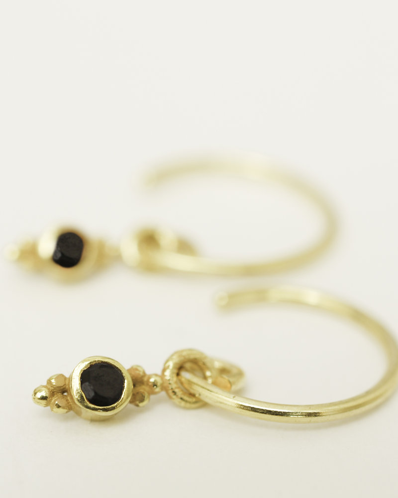Muja Juma Earring Onyx 925 sterling silver gold-plated