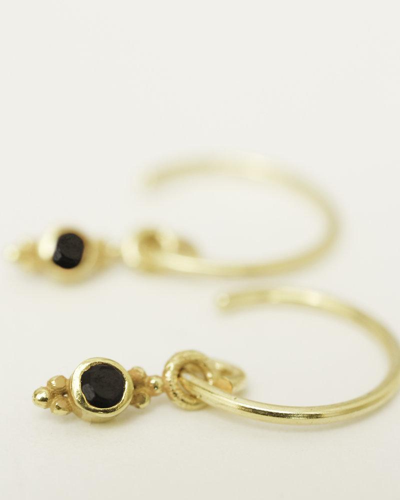 Muja Juma Ohrring Onyx 925 Sterlingsilber vergoldet