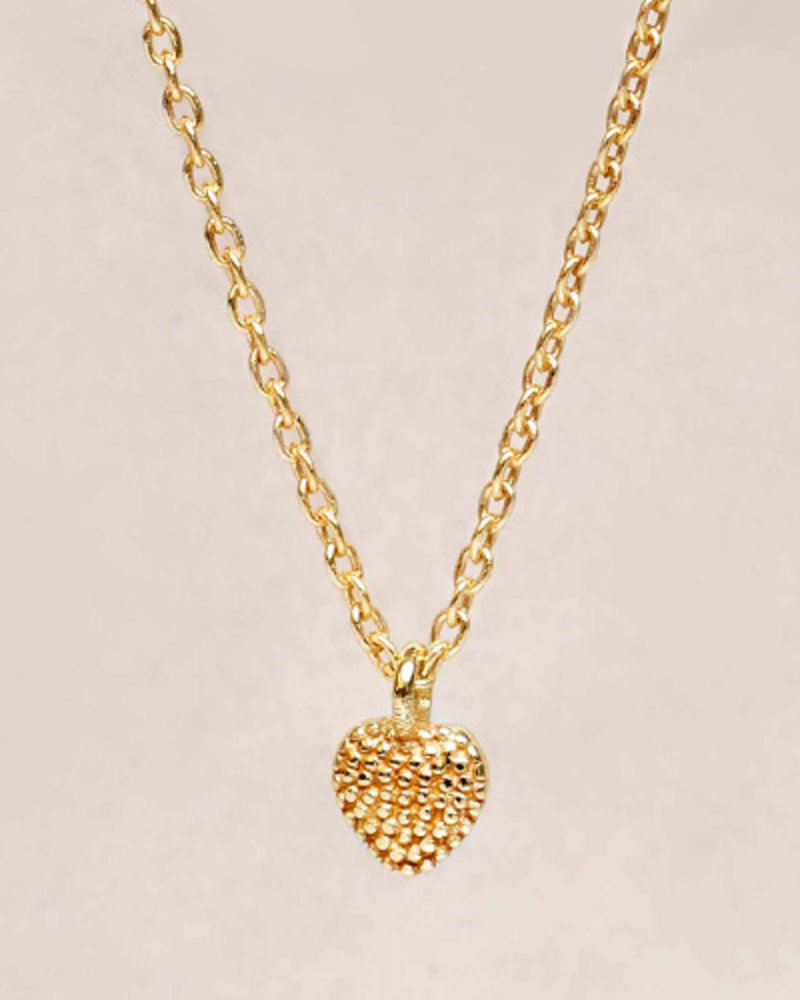 Necklace little heart  goldplated 925 sterling silver