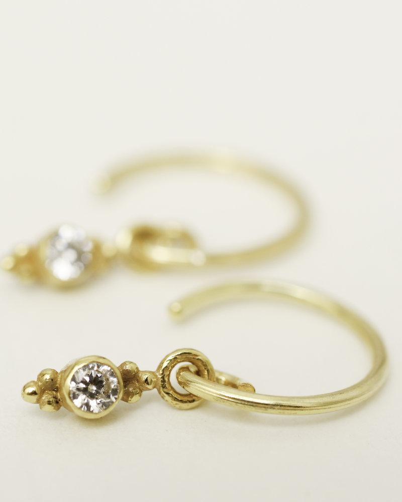 Muja Juma Earring little zirkonia 925 sterling silver  gold-plated