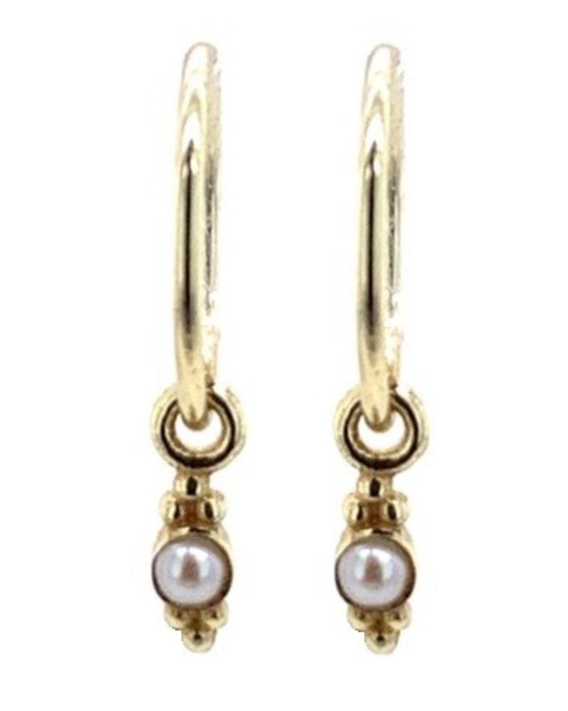 Muja Juma Earring little sweet water pearl 925 sterling silver  gold-plated