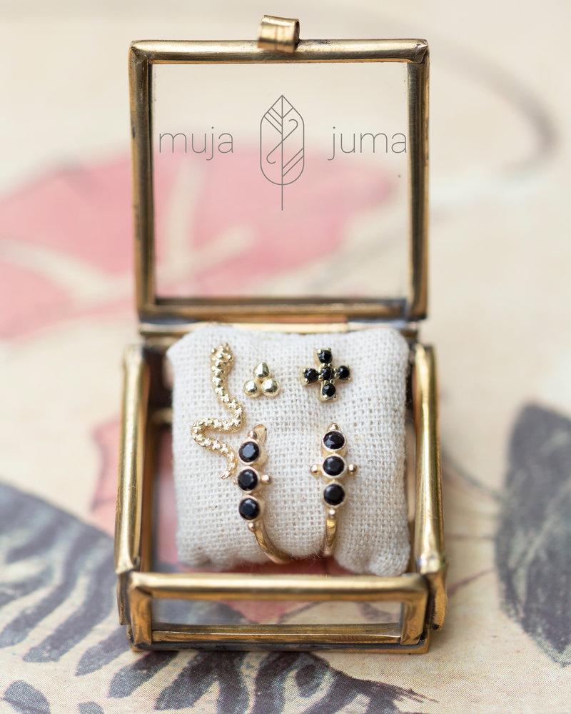 Muja Juma Earring Snakies 925 sterling silver gold-plated