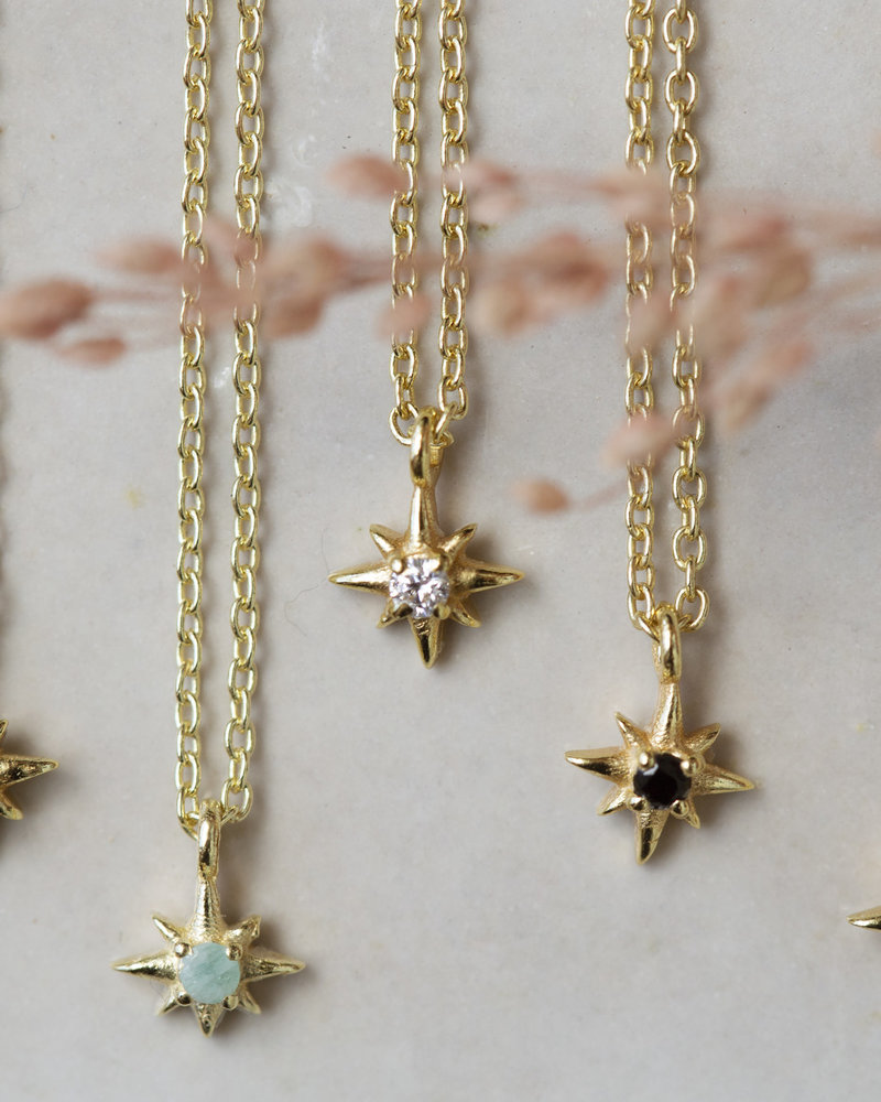Necklace all stars goldplated  925 sterling silver