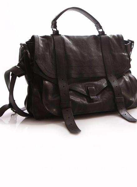 Proenza Schouler Proenza Schouler, PS1 Large Leather Black on Black Hardware Limited Edition.