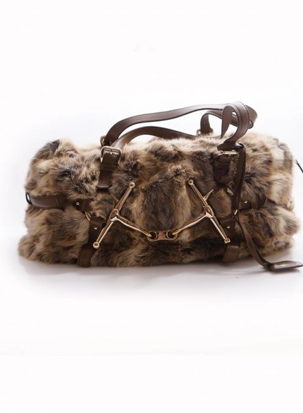 Gucci GUCCI Rabbit Fur 85th Anniversary Horsebit shoulder bag.