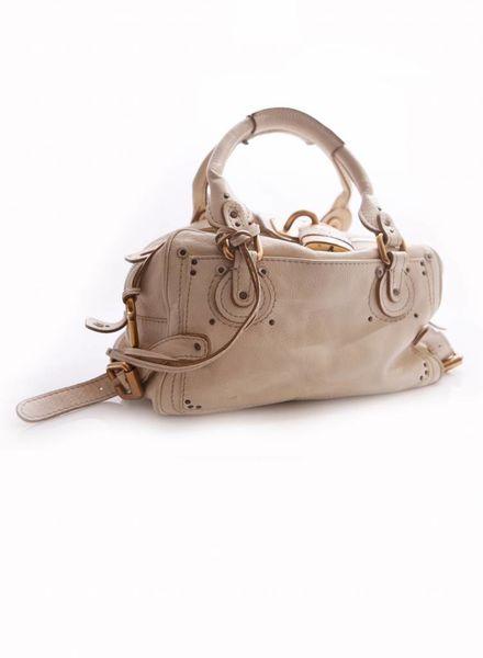 Chloé Chloe, Paddington Golden Lock Offwhite Handbag.