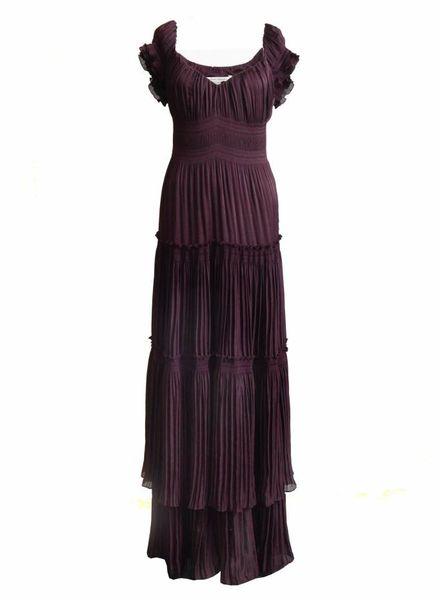 Diane VonFurstenberg Diane Von Furstenberg, paars zijden jurk in maat 10/S.