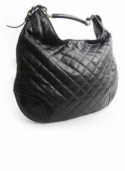 Burberry Burberry, black leather quilted handbag.