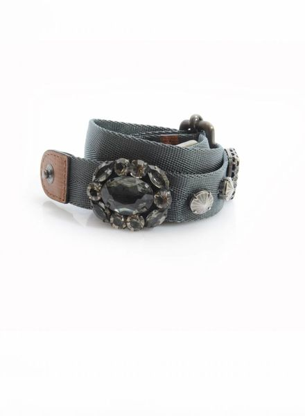 Marni Marni, adjustable waist belt with stones in size S/M.