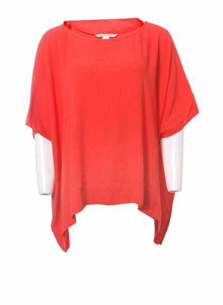 Diane VonFurstenberg Diane Von Furstenberg, oversized oranje top.