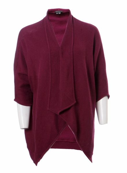 Theory Theory, purple oversized cardigan in size S/P.