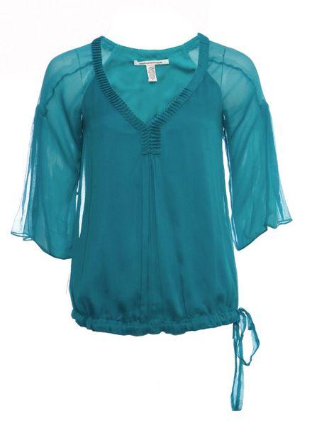 Diane VonFurstenberg Diane Von Furstenberg, green silk top in size 2/M.