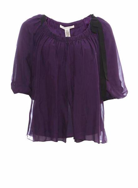 Diane VonFurstenberg Diane Von Furstenberg, purple flutter top in size 0/XS.