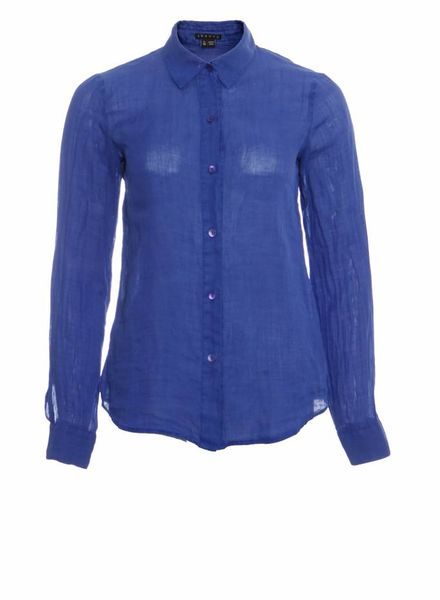 Theory Theory, blue linen shirt in size P/TP/XS.