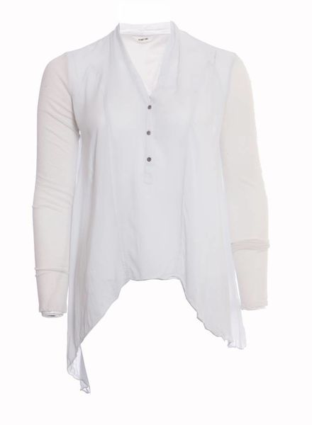 Helmut Lang Helmut Lang, semi transparant top in size S.