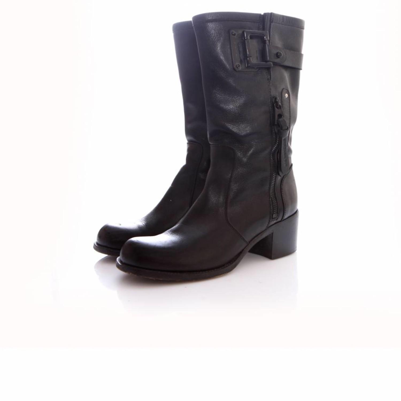 Barbara Bui, black leather boots
