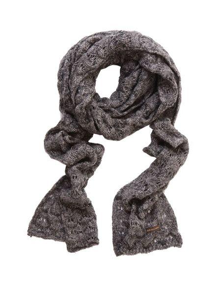 Dolce & Gabbana Dolce & Gabbana, Grijze open gebreide shawl met lurex.