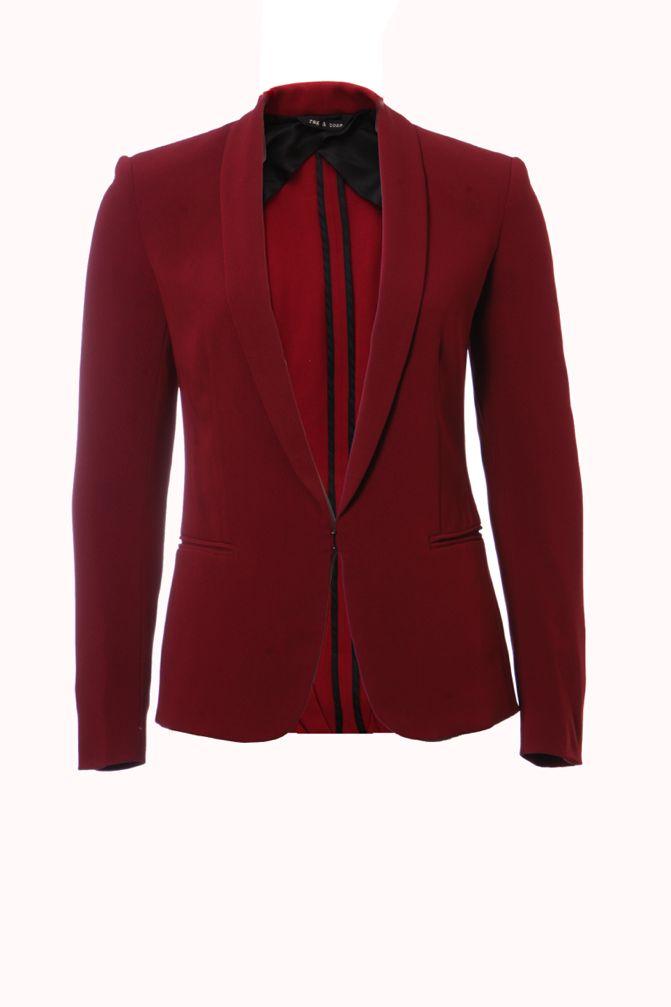 rag & bone rag n bone, bordeaux coloured blazer in size 0/xs