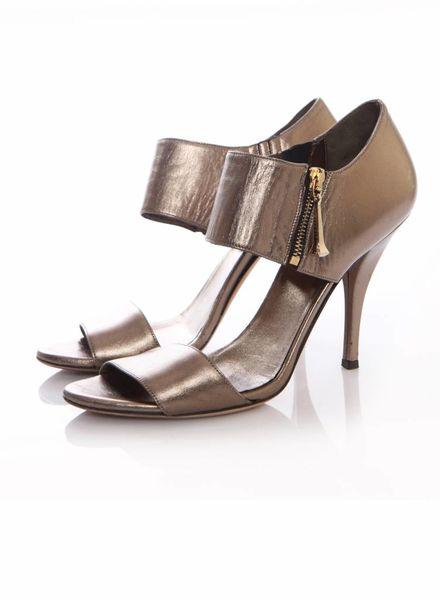 Gucci Gucci, brons kleurige sandalen in maat 39.