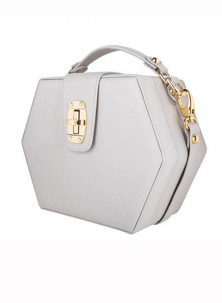 ByBordon By Bordon, soft grey leather Charlee bag.