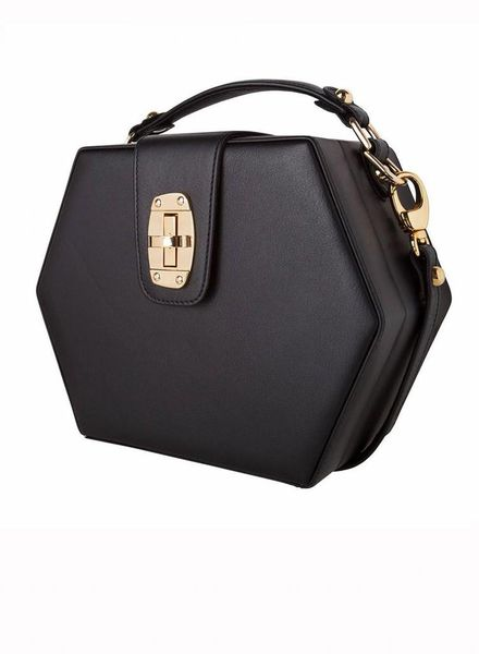 ByBordon By Bordon, black leather Charlee bag.