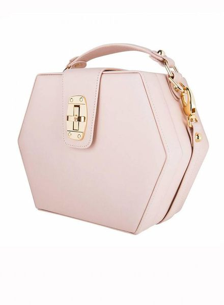 ByBordon By Bordon, nude soft pink leather Charlee bag.