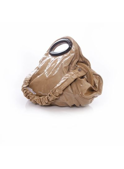 Marni Marni, large taupe patent leather bag.