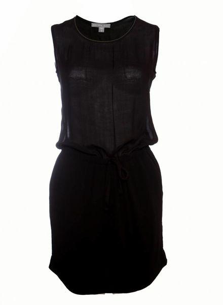 James Perse James Perse, zwarte semi transparante jurk in maat 0/XS.