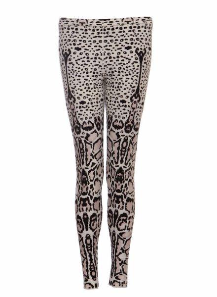 Alaïa Azzedine Alaia, zwart/wit/neutraal gekleurde luipaard legging in maat 38FR/S.