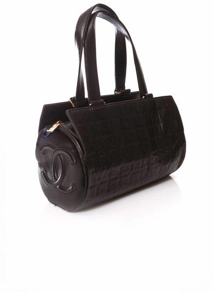 Chanel Chanel, Black cylinder bag.