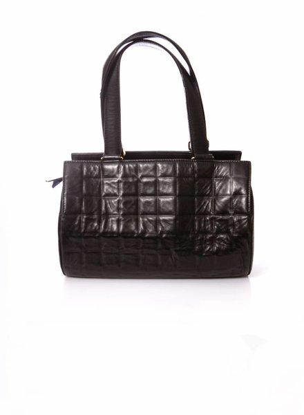 Chanel Chanel, zwarte cylinder tas.