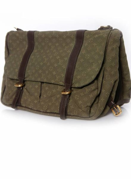 Louis Vuitton Louis Vuitton, Monogram canvas baby luiertas in groen.