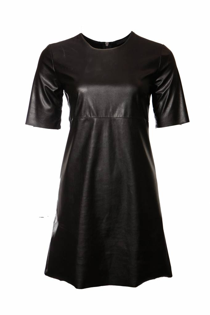 info for 188ad 255f2 Pinko Pinko, black leather dress in size I42/S.