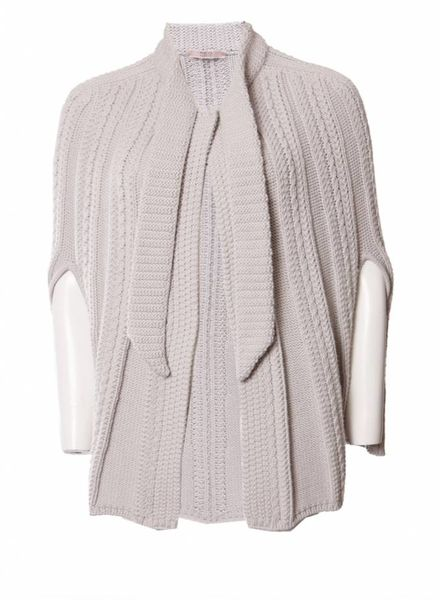 Valentino R.E.D. Valentino, Beige knitted poncho in size 42IT/S.