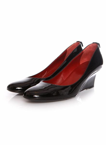 Gucci Gucci, patent leather wedge in size 37.5.
