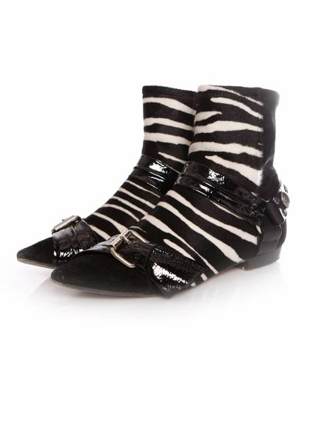 Isabel Marant Isabel Marant, patent leather boots with zebra pony skin in size 39.
