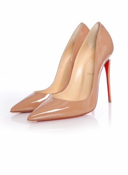 Christian Louboutin Christian Louboutin, nude patent leather so kate pump in size 40.