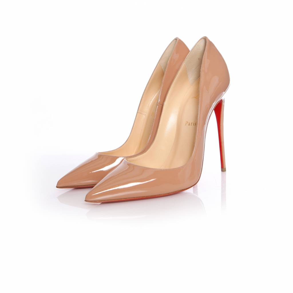 quality design 39ce1 49774 Christian Louboutin Christian Louboutin, nude patent leather so kate pump  in size 40.