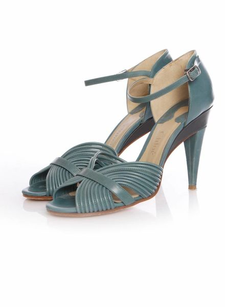 Chloé Chloe, green leather sandals in size 39.