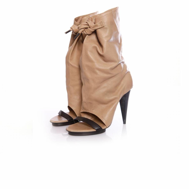 camel peep toe boots