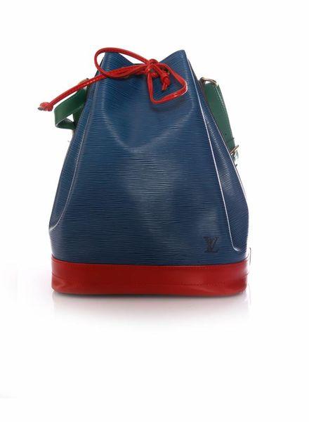 Louis Vuitton Louis Vuitton, Blue/Red/Green Tri-Color Epi Leather Large Noe Bag.