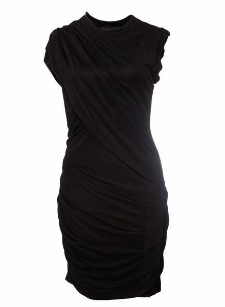 Alexander Wang Alexander Wang, zwarte rimpel jurk in maat 8/S.