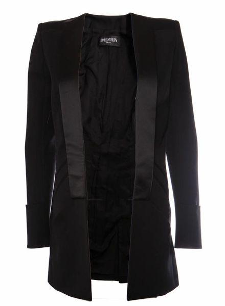Balmain Balmain, zwart wollen blazer in maat 38FR/S.