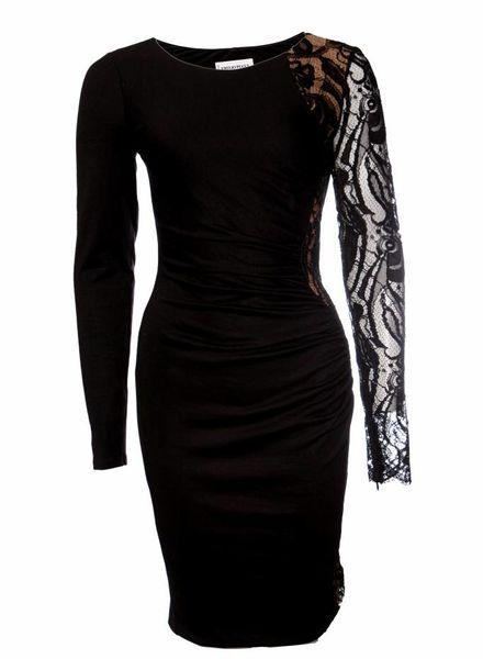 Emillio Pucci Emilio Pucci, zwarte jurk met kant in maat I42/S.