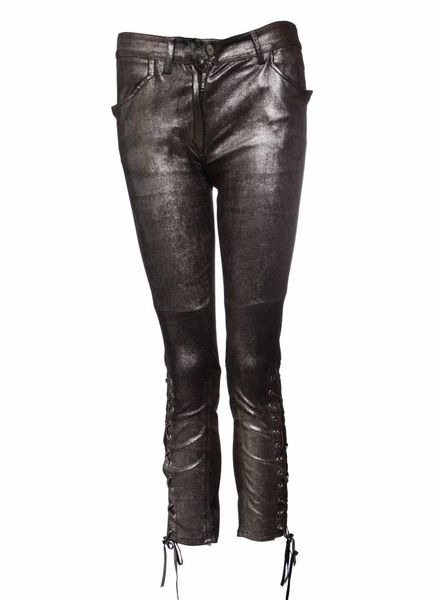 Isabel Marant Isabel Marant, Niall Metallic Silk Trousers in size 36FR/XS.