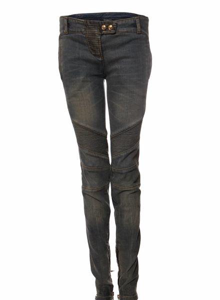 Balmain Balmain, lichtblauwe biker jeans in maat 40FR/M.
