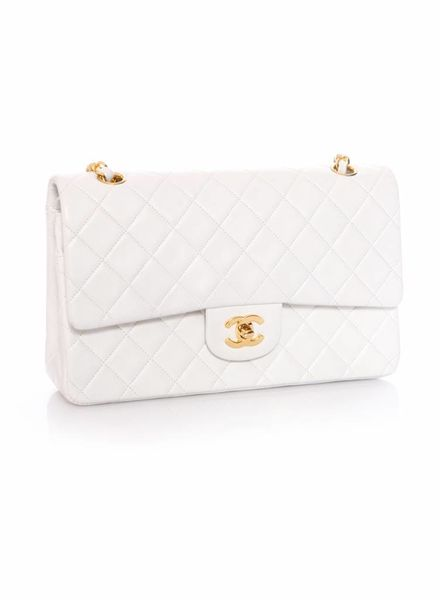 919a5745b034 Chanel Chanel, timeless white 2.55 double flap bag with gold hardware  (vintage).