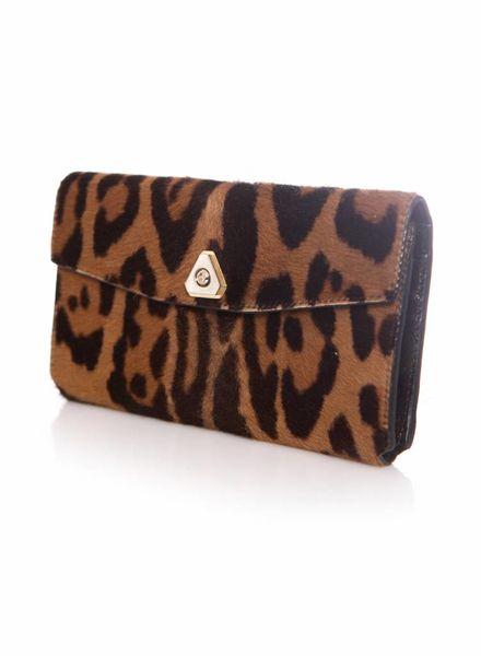 Alexander Wang Alexander Wang, Leopard-print calf hair wallet.