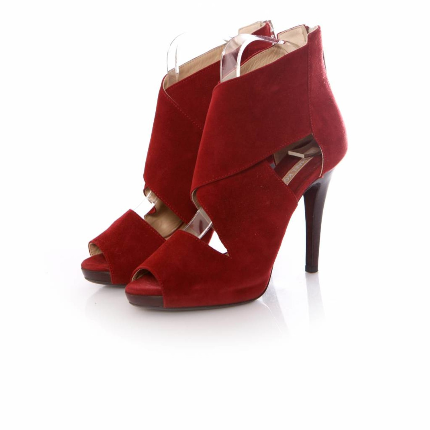 Michael Kors, cherry red coloured suede