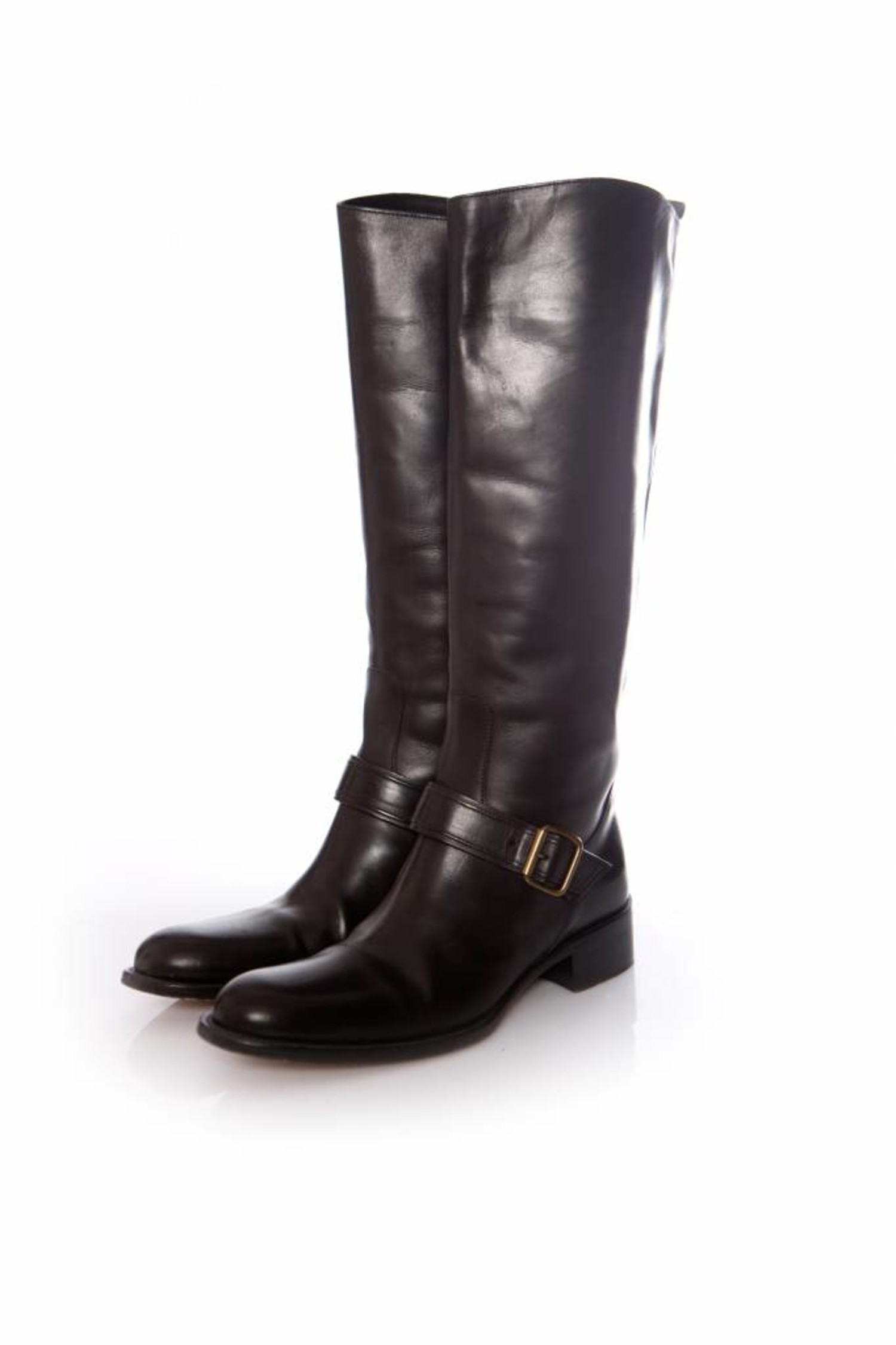 Sartore Black Leather Horse Riding Boots Unique Designer Pieces